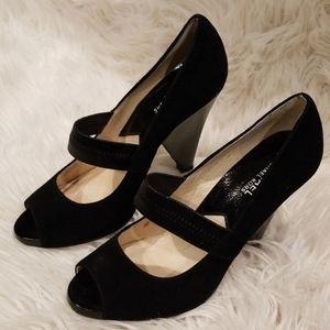 Michael Kors, black 4in. pumps, peekaboo toe, sz 8